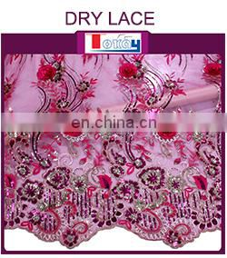 2015 latest style african cotton dry lace for party