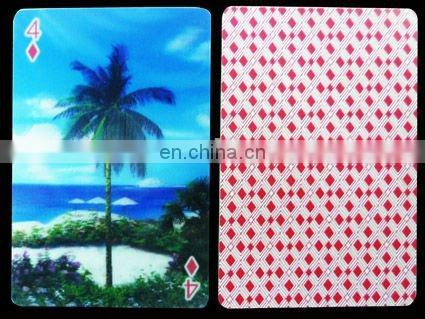 high quality custom 3d effect poker or playing cards with factory low price