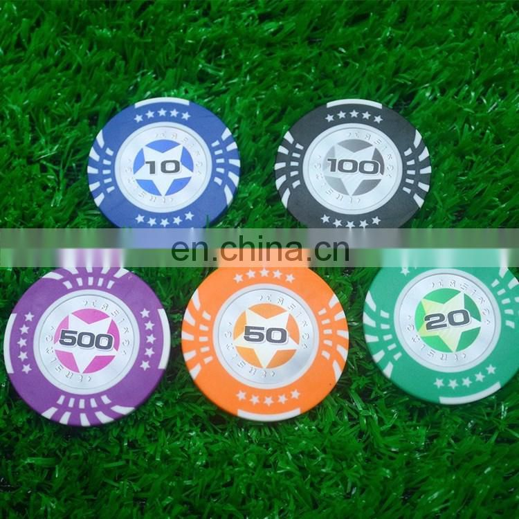Full color printed ceramic cheap casino chip with my logo