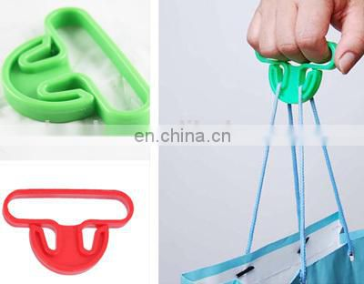Colorful plastic handy bag holder