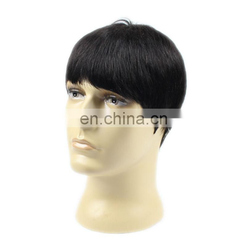 wholesale hot sale high quality remy virgin short human hair wig for man