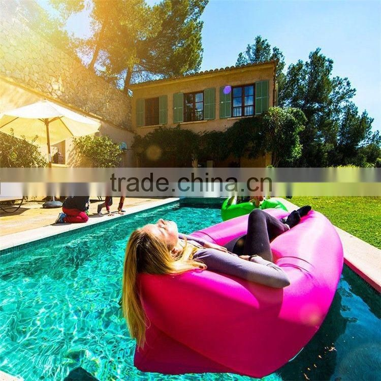 Outdoor Inflatable Sleeping Bag Mat Pinic Air Mattress Bed Beach Sofa