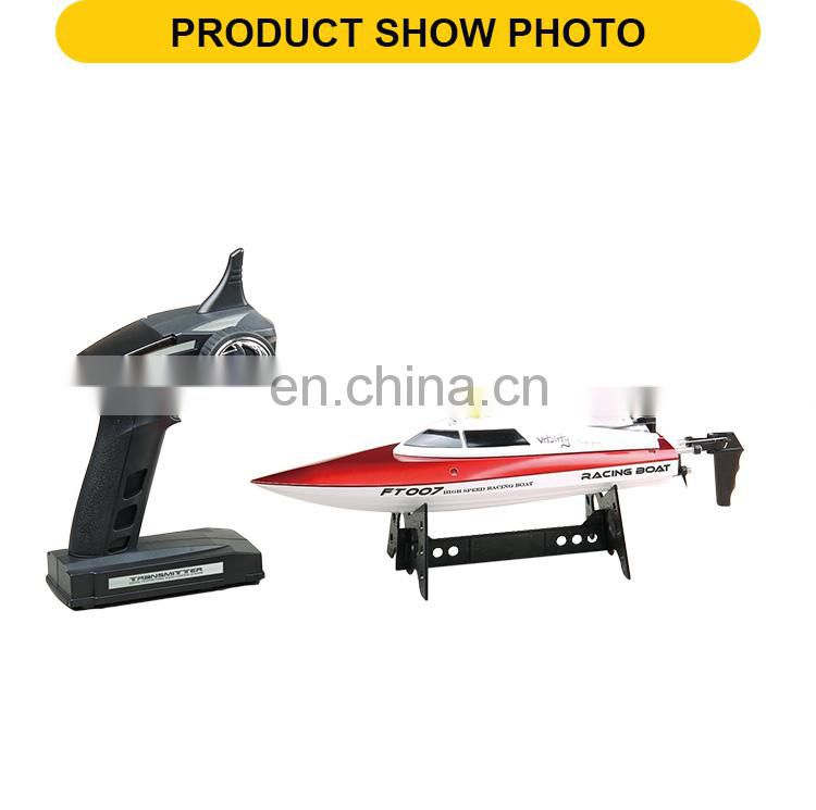 Children Radio control toys Four-way remote control speedboat Electric powered RC boat Kits with charger