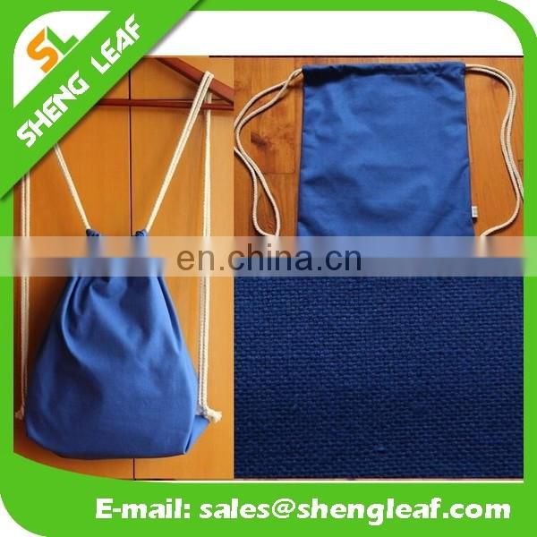 Factory custom high quality canvas drawstring bag for promotion