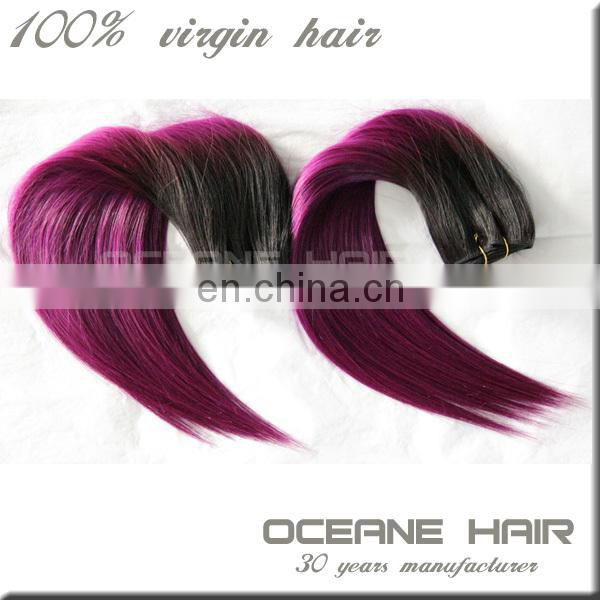Hot selling top grade large stock ombre malaysian hair