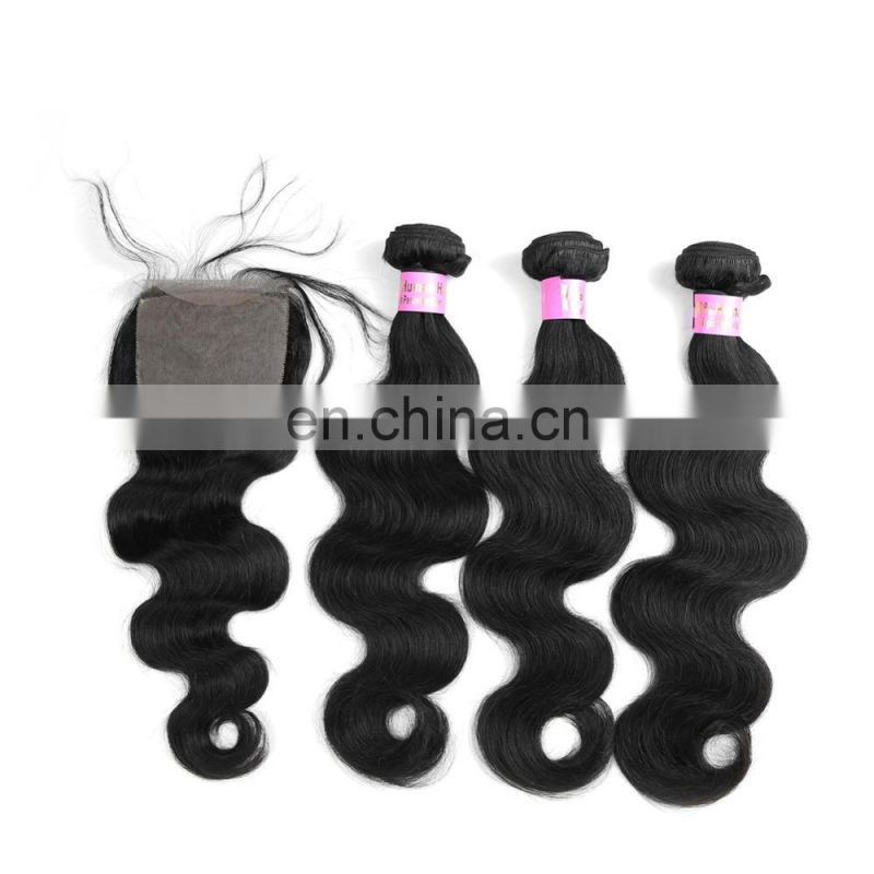 Youth Beauty Hair 2017 top quality factory price virgin remy hair 7A grade hair weaving in body wave and lace closure alibaba