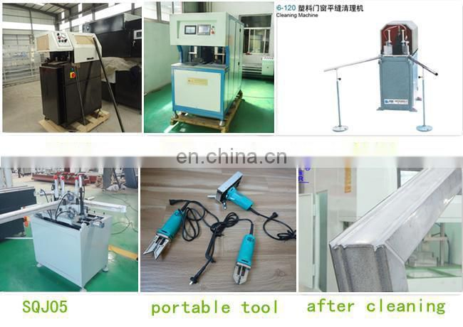 UPVC machinery for setup window door factory