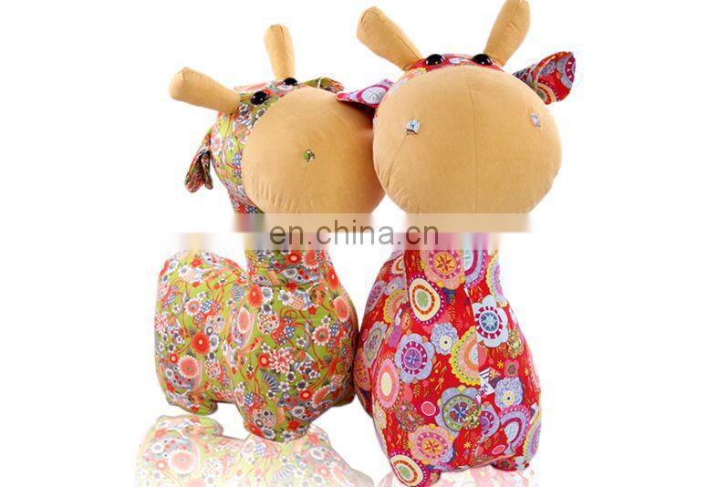 Promotional wholesale custom Giraffe realistic stuffed anima and Deer plush toy made in China Factory