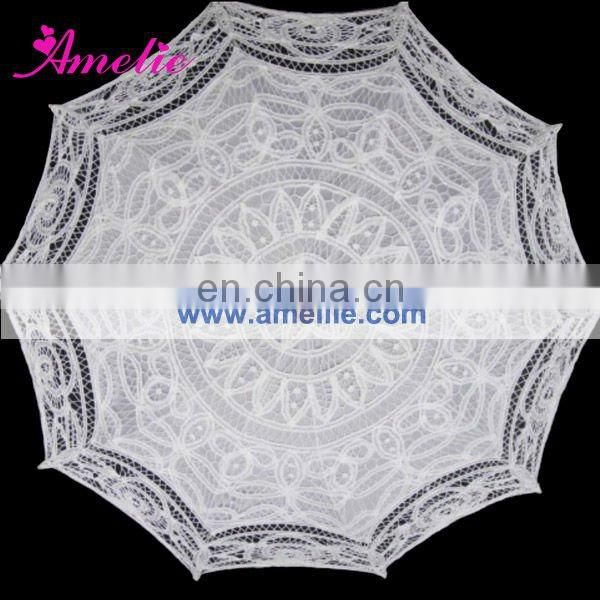 A0169-45cm Wholesale Wooden Straight Hand White Wedding Decoration different kinds of umbrellas