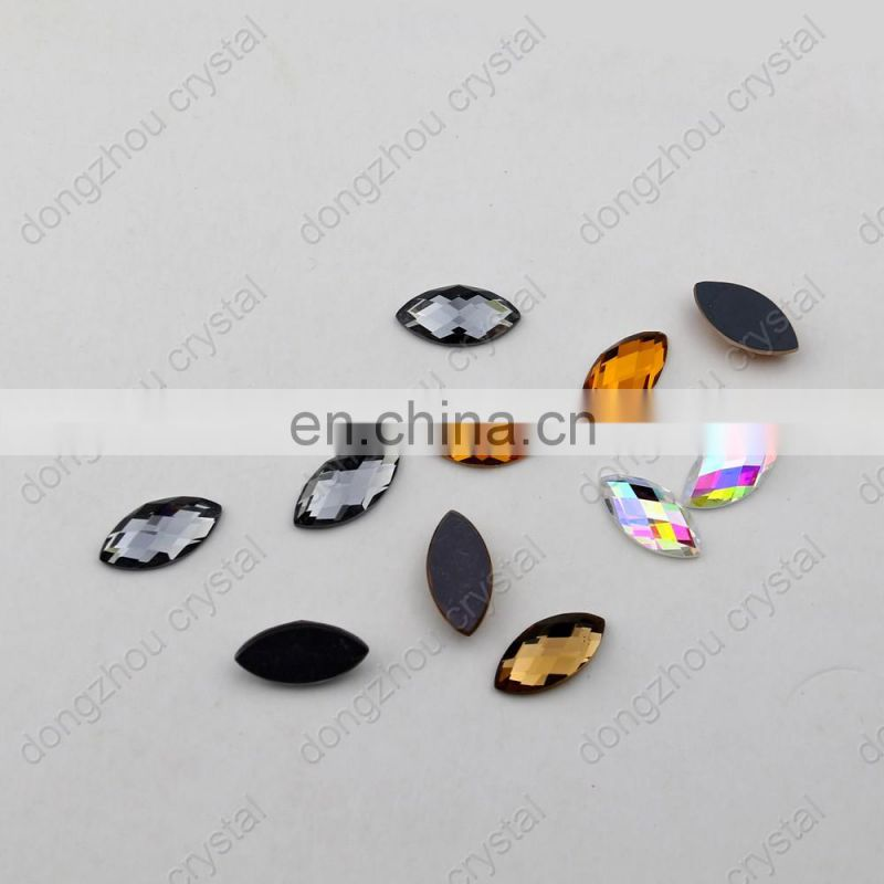 DZ-1034 flat back glass rhinestones for jewelring making