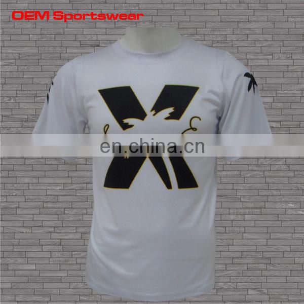 Full sublimation custom white short sleeve t shirts mens clothing 2015