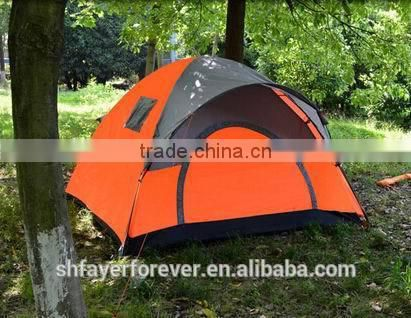 Round rainfly one door double layer 3 person outdoor camping family tent fish tent