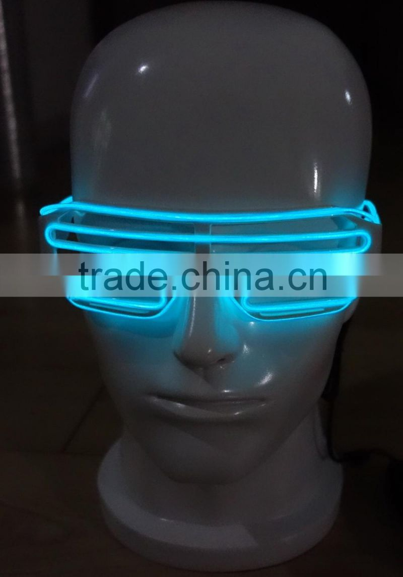 Lime EL Shutter glasses / Lime EL wire Shutter glasses / Lime EL WIRE glasses / Blue EL glasses