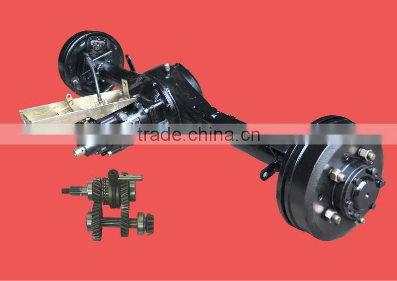 trike rear axle with 3 speed differential rear axle