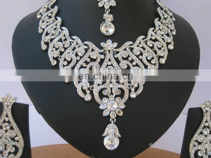 INDIAN DESIGNER SILVER WEDDING JEWELRY SET