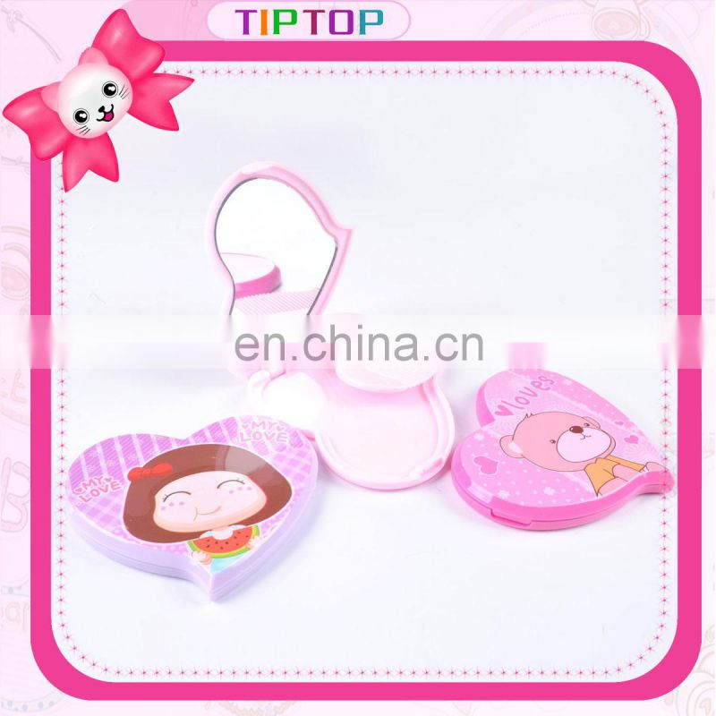 Plastic Pocket Mirror and Comb Set