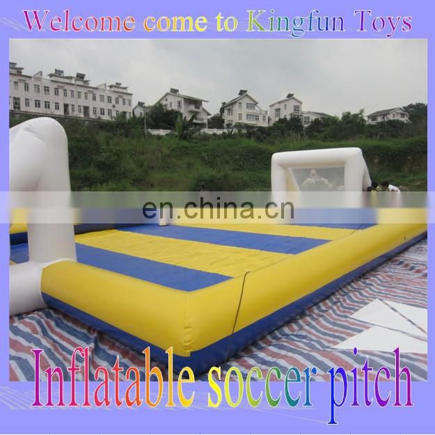Inflatable Soap Soccer Field/ Water Football Field with fence