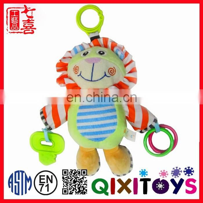 Baby Plush Lovely Animal Toys Cute Kids Toys Stuffed Activity Hanging Toys with Teether for Babys