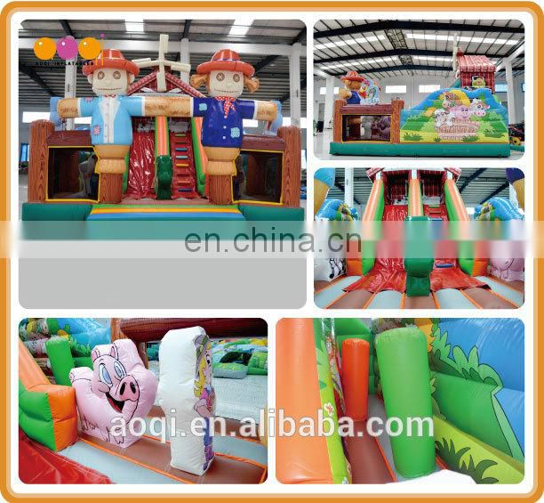 2015 new design scarecrow house inflatable combo