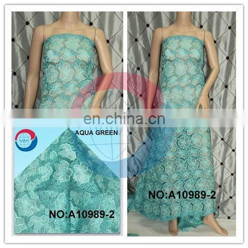 New stock high quality african double organza lace/african style french organza lace/ african organza lace fabric