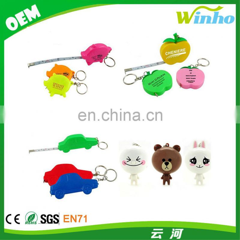 Winho tyre keychain tape measure for promotion screen printing