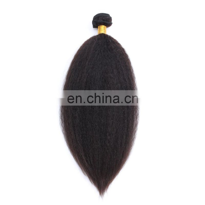 kinky straight wholesale virgin human hair extensions indian