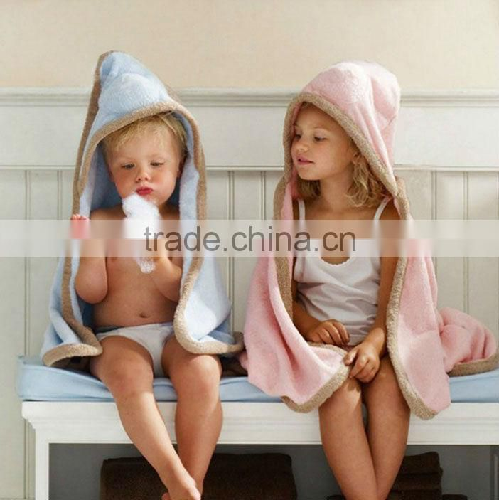 Microfiber kids hooded towel/poncho