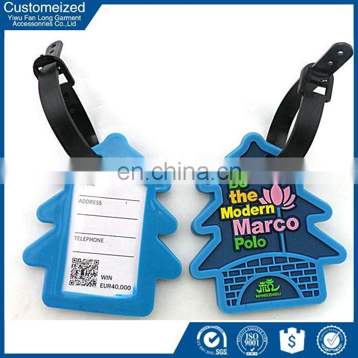 Yiwu supplier personalized plastic cheap luggage tags