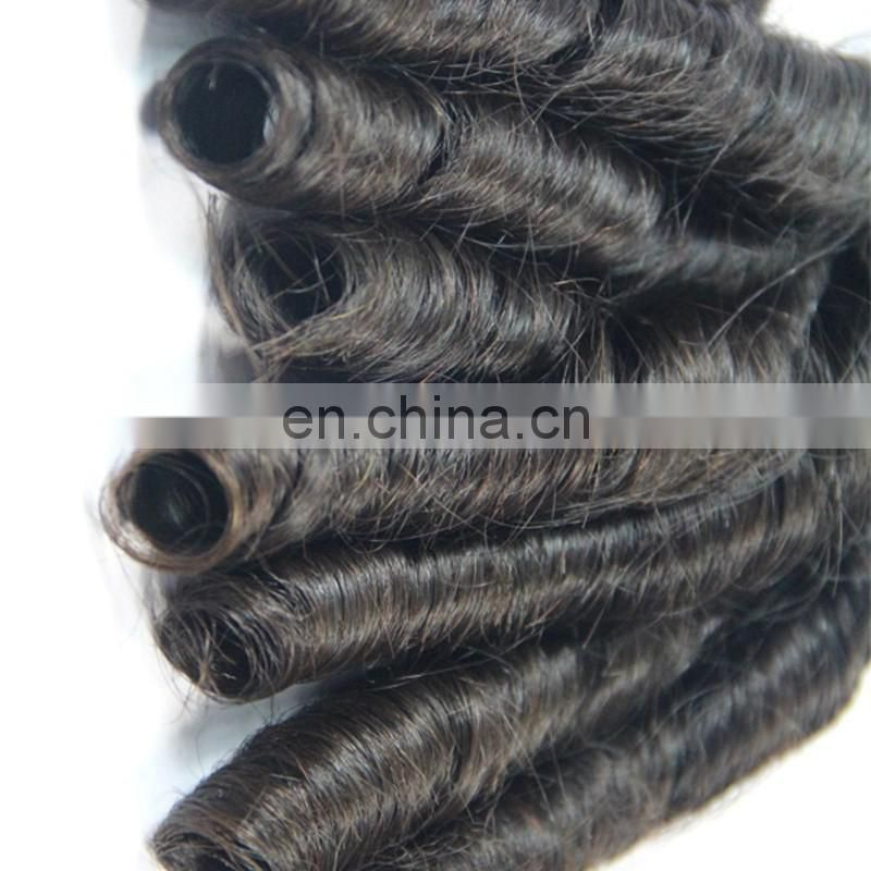 "Top quality virgin human hair weaves short length 10"" spring curl style peruvian hair"