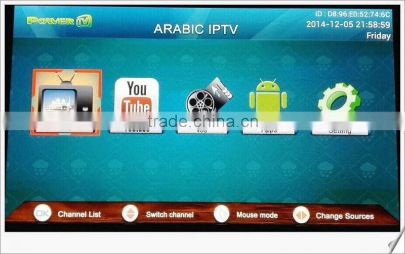 PowerTv X6 IPTV Arabic box free arabic box channels Android 4 4 tv