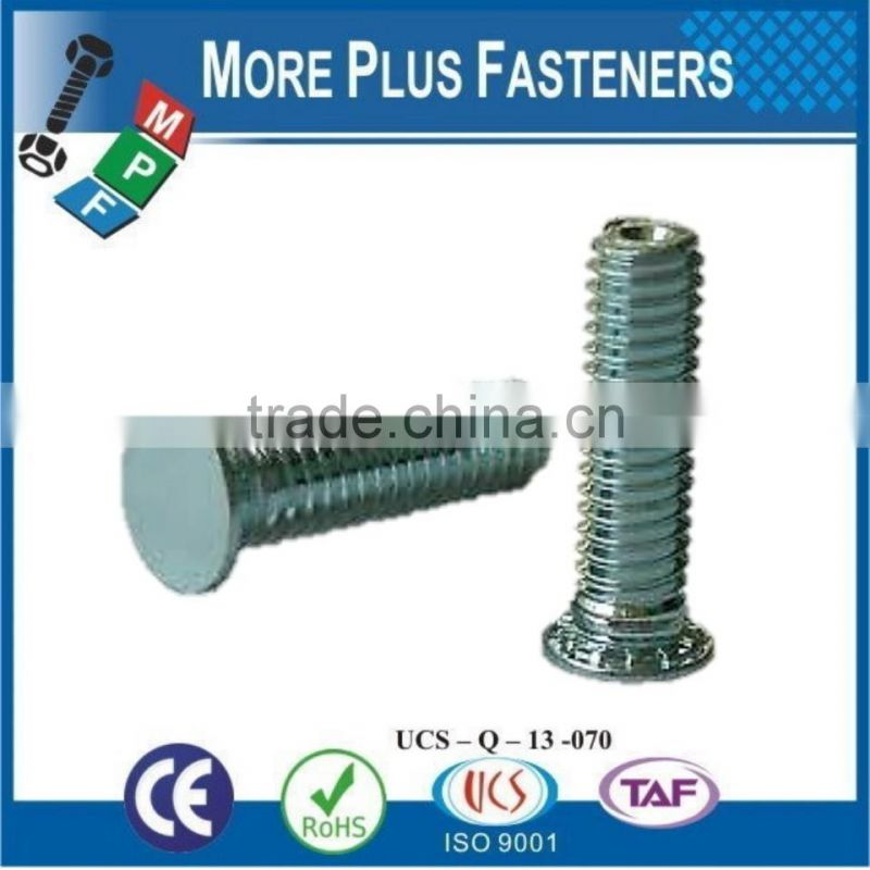 Made in Taiwan Stainless Steel Flush Head Non Flush Head Self Clinching Metric Threaded Stud