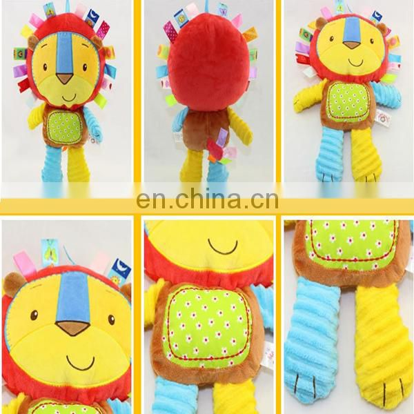 Baby Toddler Kids Soft Stuffed Plush Animal Toy Rattle Squeaky Developmental Toy