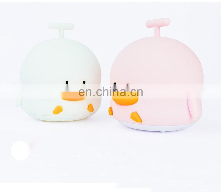 New Design Cute Multicolor Children Baby Nursery Lamp Silicone soft night lamp