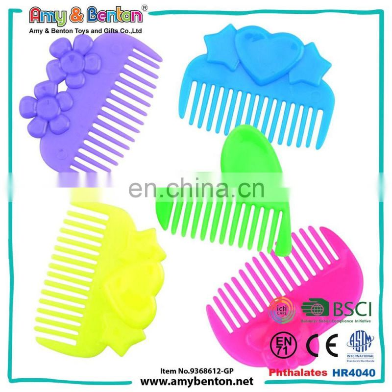 Multi-Color Plastic Comb Promotional Gift Comb Toy For Girl