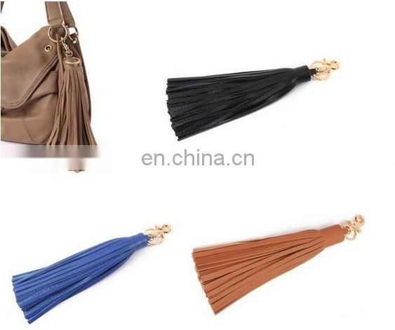 Colorful leather tassel charms hanging charms for jewelry bags keychain garment accessories