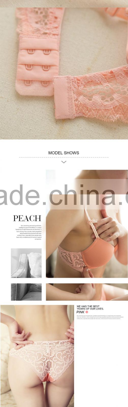 bfe7a68461 ... HSZ-5001 Wholesale High Quality Women Underwear Pink Sexy Fancy Bra  Panty Set for Women