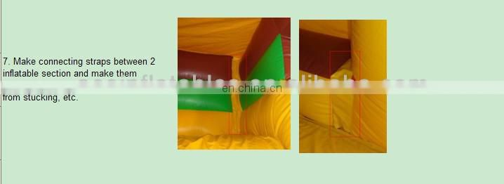 New Hippo Design Inflatable Obstacle Course