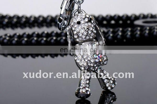 CRYSTAL/RHISTONE DOG KEY CHAIN WHOLESALE