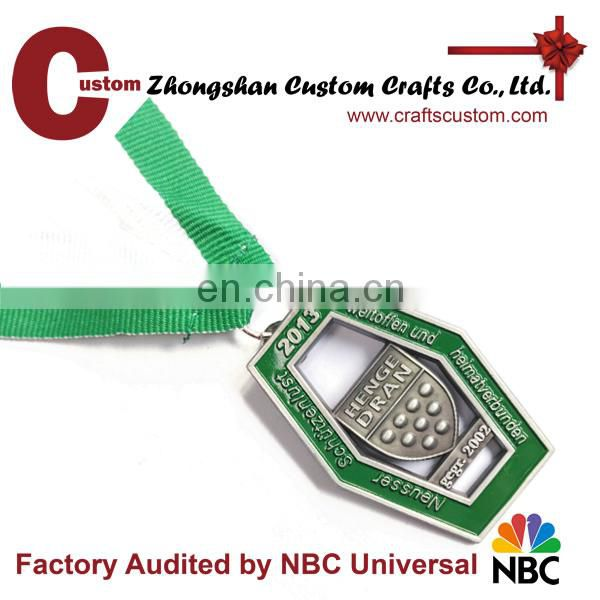 Promotion cheap custom metal sport award medals with ribbon