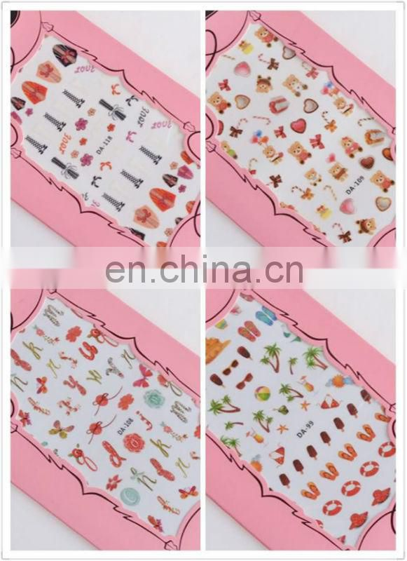Latest cheap various nail sticker 3d nail sticker