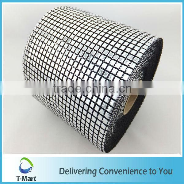 Plastic Rhinestone Mesh Banding Trimming For Decoration