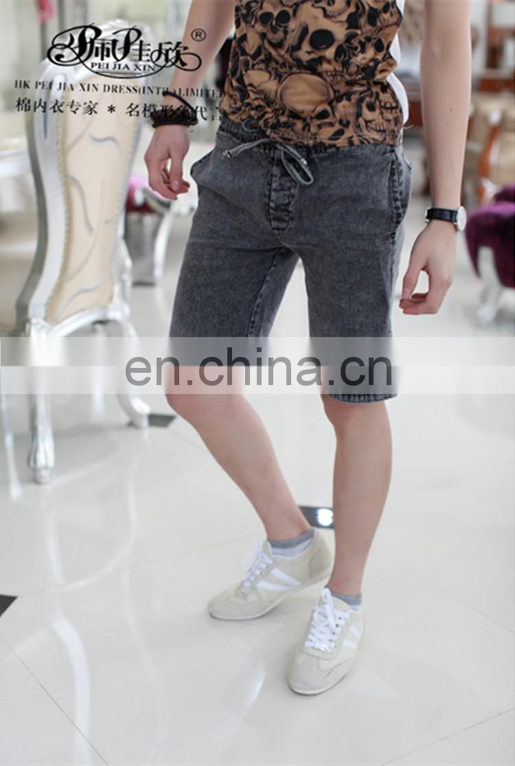 Peijiaxin Fashion New Design Hot Selling Snowflake Pattern Waistband Jeans Shorts