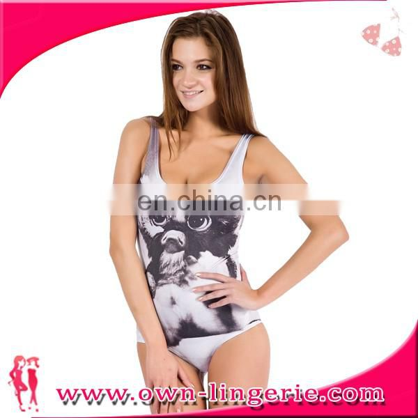 Best quality animal print one piece beach women bikini