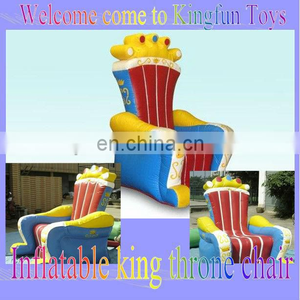 2013 New arrival inflatable throne king chair for festival