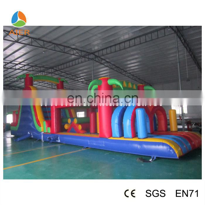Giant jungle Inflatable obstacle course