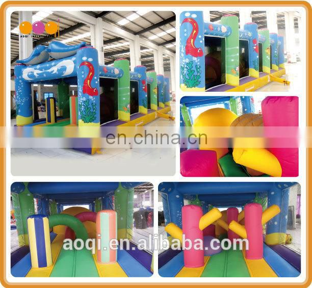 AOQI inflatable toys outdoor inflatable fun city game with free EN14960 certificate