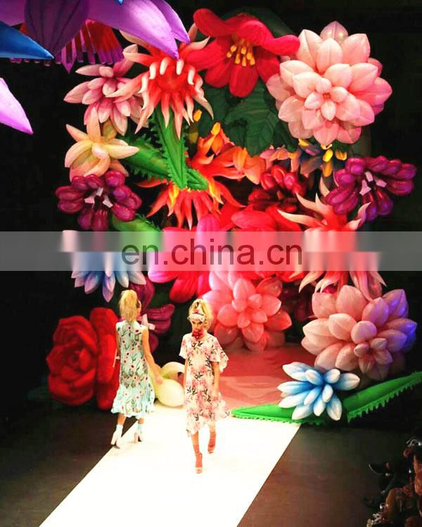inflatable flower chains for fashion show
