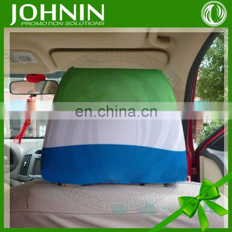 hot sale custom spandex polyester printed car seat headrest cover