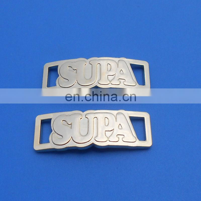 Existing mold custom printing brand logo shoe lace tag for sneaker
