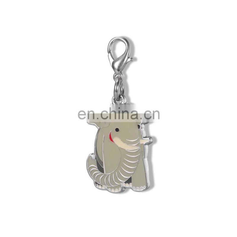 metal enamel charm, elephant shape zipper head,custom metal enamel zipper heads